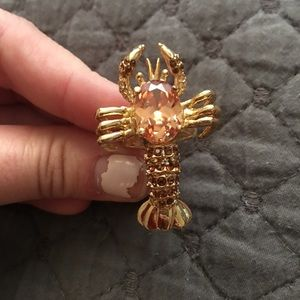 Jeweled lobster ring